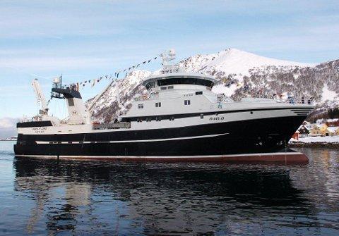 """FLERE TRÅLERE: Rederiet Prestfjord investerer i ny båt til 250 mill. Fra før har de """"Prestfjord"""" (bildet), """"Sunderøy"""" og """"Langøy"""". Foto: Trond K. Johansen, Bladet Vesterålen"""