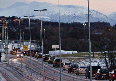 Tungt trafikkert: Giæverbukta er allerede en flaskehals for trafikkavviklingen i Tromsø.