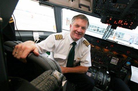 Ola Giæver jr. er - og har vært - en svært aktiv investor og samfunnsdebattant - samtidig som han har vært flykaptein i Widerøe (WF). Foto: Marit Rein