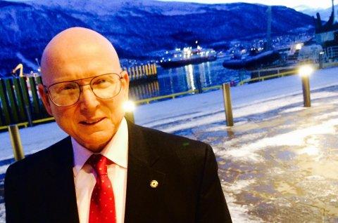 Admiral Papp har ankommet Tromsø for første gang. Foto: Rune Endresen