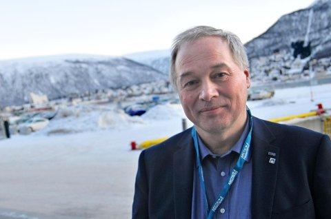 OPTIMIST: Frode M. Nilsen, administrerende direktør i LNS, sier oppsiden i Aappaluttoq-prosjektet er enorm - hvis alt går som planlagt.