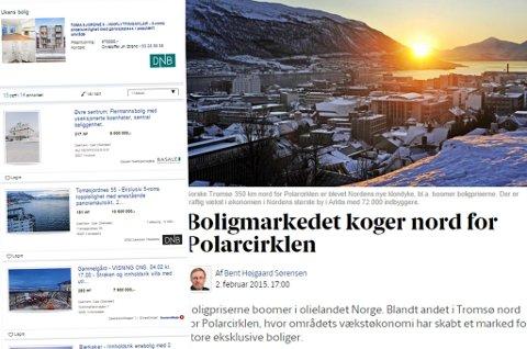 Berlingske Tidende forteller at folk i Tromsø ikke bare har råd til dyre hus. De kjøper også fine barnevogner.