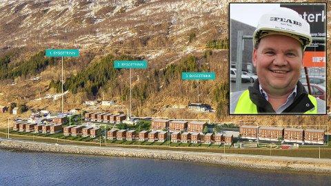 NYTT BOLIGFELT: På Kaldslett kommer mange nye boligenheter. Innfelt: Stig Tore Johnsen.