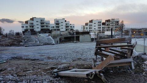 BOLIGSALG: Her kommer nye boliger i Norrøna-feltet i Tromsø.