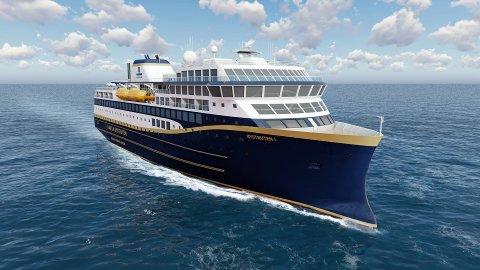 NYKOMMER PÅ KYSTEN: Havila skal fra 2021 inn i kystrute-avtalen med fire slike skip. Men to av dem blir kraftig forsinket.