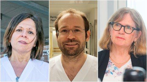 MER INN ENN SJEFEN: Marit Lind (visedirektør) og Jon André Totland (overlege) hadde begge mer i skattbar inntekt i 2019 enn UNN-sjefen Anita Schumacher.