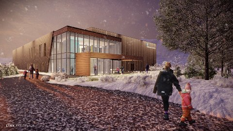 SKAL FÅ KUNST: Den nye normalhallen på Storelva har økt i pris fra 35 til 145 millioner kroner. Nå skal også prosjektet få kunstnerisk utsmykning.
