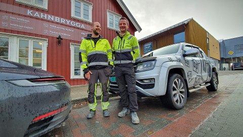 TIL STEDE: En sentral og historisk eiendom i Rørvik danner utgangspunktet når Arvid Melhus og Øyvind Barland i Birger Pedersen AS forsterker fotfestet i Nærøysund.