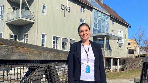 NY BANKSJEF: Cathrine Gohn tok nylig fatt på jobben som banksjef i DNB med kontorsted Steinkjer, etter å ha fungert i rollen en stund.