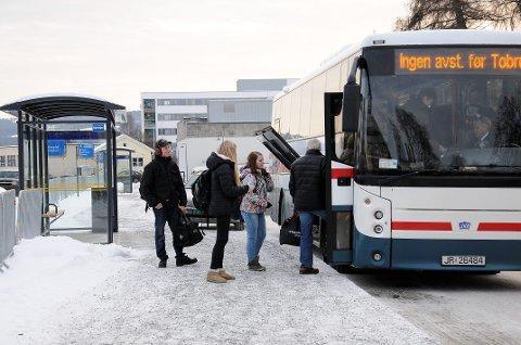 Bybussen går: Liten oppslutning om streiken blant bussjåførene i Gjøvik, En konsekvens er at byssen går. Arkivfoto