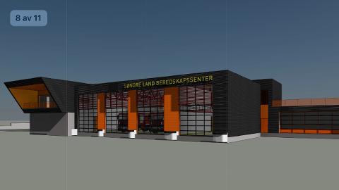 Søndre Land Beredskapssenter planlegges med lokaler både for brannstasjon og ambulanse.