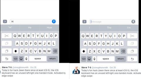 LÅST: Vet et enkelt sveip til høyre eller venstre, kunne iPhone blitt enklere å bruke med én hånd. Men det har Apple valgt å låse.