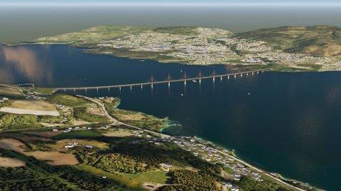 FEM KONKURRENTER: Det er fem utenlandske entreprenørselskaper som vil bygge den nye Mjøsbrua.