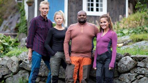 UTFORDRERE: Bjørn-Erik Flatnes (22), Liv Rannveig Tørstad (33), Thomas Ravi Håland (39) og Karoline Røed (30) skal kjempe om to plasser på Farmen-gården.