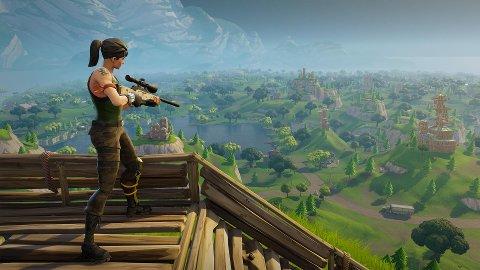 FENOMENET FORTNITE: I Fortnite er målet å stå igjen som eneste overlevende blant 100 spillere.