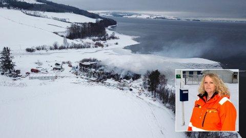 INGEN VINTERFERIE: Vann- og avløpssjef Elisabeth Harrang og de andre involverte etter brannen i Skreia avløpsrenseanlegg dropper vinterferien.