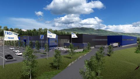 FABRIKK: Slik kan Trox Auranors ny fabrikk bli seende ut. Det er et av Syljuåsens største prosjekter noensinne.