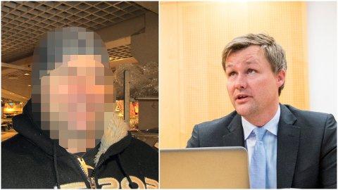 TØFT: – Min klient har hatt det tøft det siste året, sier advokat Bernt Heiberg, som forsvarer den tiltalte politimannen.