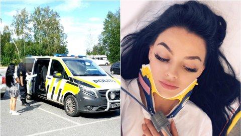 HJERNERYSTELSE: Etter hendelsen har Stina Bakken pådratt seg hjernerystelse og øresus. Hun sliter også fortsatt med ømhet i kjeven.