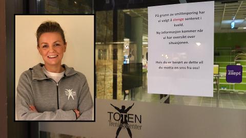 Smittevernsansvarlig Tina Løkken Molstadkroken stenger ned senteret etter at åtte ansatte er i karantene.