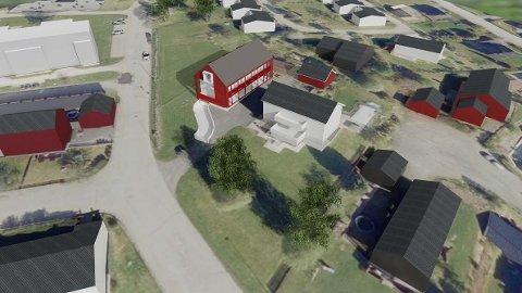 LÅVEPREG: I planene er studentboligene har bygget fått et låvepreg ved Øvre Gjøvik gård.