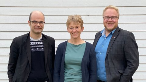 Innlandet SVs fylkestingsgruppe: Hans Olav Lahlum, Mai Bakken og Bjørnar Tollan Jordet