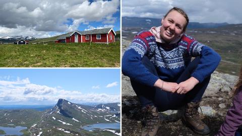 Hanna Selås har i sommer byttet ut paljettkjolen med fjelluft og dyrepass på Sandalsstølen i Valdres
