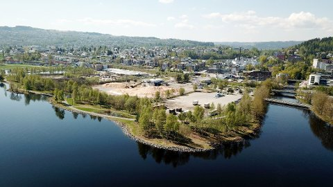 FORURENSET: Grunnen på Huntonstranda, som er del av Mjøsstranda, på Gjøvik er full av metangasser. Det har Sweco funnet ut gjennom undersøkelser.