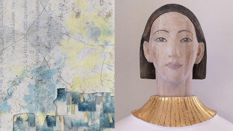 Anna Österberg og Angelina Engelsen har ny utstilling i Kauffeldtgården, Gjøvik.