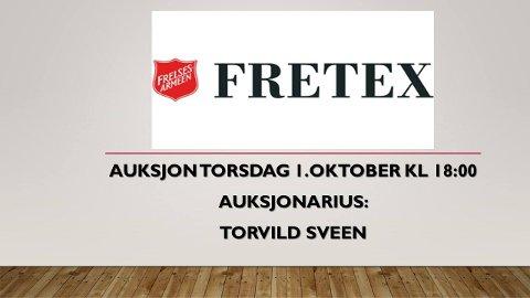 Velkommen til auksjon på Fretex!