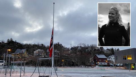TRIST: To skoler i Lofoten, blant annet Svolvær, er sterkt preget etter brannen som krevde fem menneskeliv i helga. Kristine Stabell fra Gjøvik er lærer ved skolen, og forteller om en spesiell stemning.