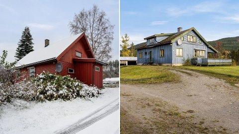 TIL SALGS: Dette er to av ni boliger som for tiden ligger ute til under én million kroner.