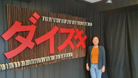 DAISUKI: Her innehaver Marju Dame Meijas avbildet i mars, noen dager før åpning.