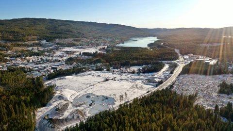 NÆRINGSTOMT: Romerike Brensel har kjøpt 15 mål for drøyt 12 millioner på Stubbengmoen i Harestua Næringspark.