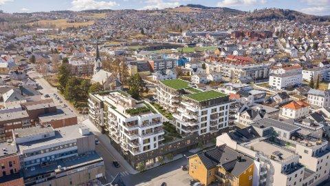 STORT PROSJEKT: Nytorvet boligpark blir et av de største boligprosjektene i Gjøvik sentrum på lang tid.