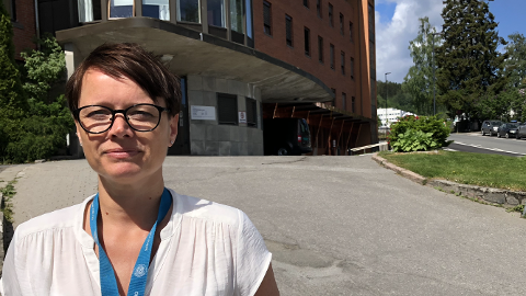 SER FRAMOVER: Kristin Sande, tillitsvalgt for sykepleierne på Gjøvik, sier mange er glad for at vedtaket er fattet og at de nå ser framover.