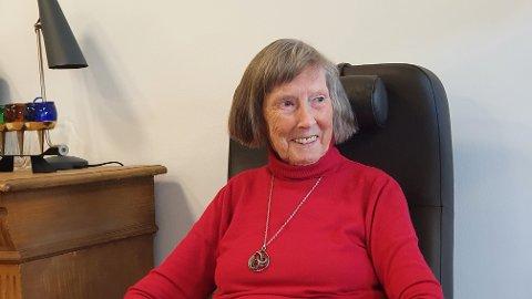 HJEMME: – De er så heldige, de som kommer hit, sier Inger Reidun Moen (88) ved Nordbyen omsorgssenter.