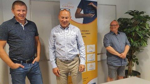 HENTER GAMERE: ETC-gründer Dag Solhaug og salgssjef Tore Sorknes får Nav-hjelp av Kjetil Furuseth-Olsen med rekrutteringen.