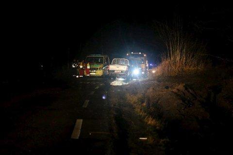 OMKOM: En kvinne på 20 år omkom i Kirkeveien på Nesodden 15. november. FOTO: Jon Martin Larsen, Amta