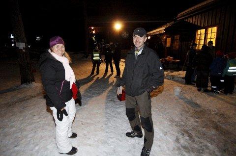 PÅ BESØK: Ordfører Anne Kristine Linnestad og gruppeleder Oskar Kleven.