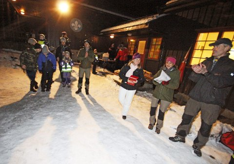 EVENTYR: Ordføreren oppfordret Ski-speiderne til å nyte eventyret i naturen.