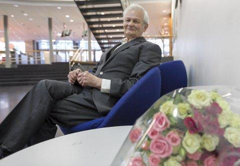 Stå på: Sigurd Birkelund håper han får bruk for studiet sitt og at han får forsette å prestere.