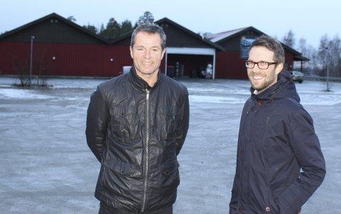Jevnes med jorden: Ivar Bjoner (t.v.) og Anders Borgen står bak Spar-butikken som skal rives på Bøleråsen. Nybygget skal inneholde både leiligheter og butikk.