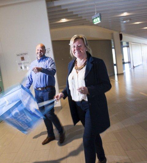 ØKNING: Clas Ohlson kommer til Vinterbro senere i år. En slik butikk håper senterleder Laila Sønstevold vil øke omsetningen ved sentre ytterligere. FOTO: BJØRN V. SANDNESS