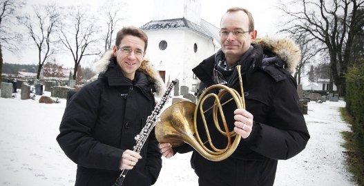Gleder seg: David Friedemann Strunck (til venstre) og Steinar Granmo Nilsen ser frem til søndagens konsert. FOTO: STIG PERSSON
