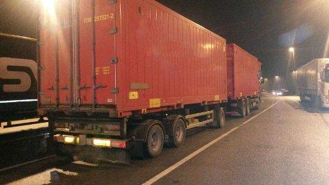 Her er kjøretøyet som ble stoppet onsdag kveld på Taraldrud kontrollstasjon. Foto: Statens vegvesen