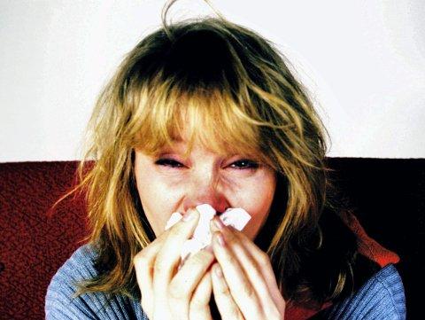 Influensa på vei: Folkehelseinstituttet har sett at influensaen med feber, halsinfeksjon og øm kropp, har rammet flere den siste uken.   Foto: Linda Haugvaldstad/Scanpix