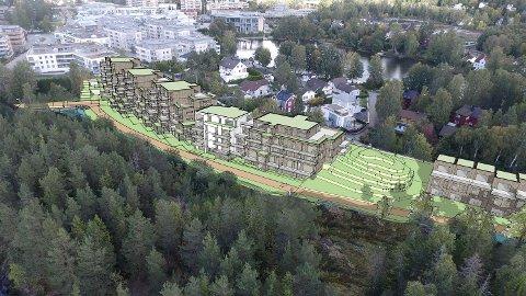 KOLBOTN SENTRUM: Forslagene til detaljregulering for Kantorbekken Terrasse og nabofeltet skal til politisk behandling 13. november.