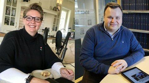INTENSJONSAVTALE: Både Hanne Opdan (Ap) og Thomas Sjøvold ønsker å si minst mulig før en eventeuell samarbeidsavtale blir undertegnet mandag.