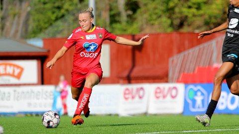U-landslagsspilleren Vilde Birkeli er klar for Kolbotn. Her i aksjon for i Røa-drakt